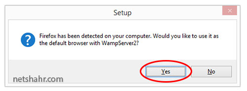 making firefox the default browser for Wamp Server